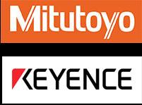 Mitutoyo and Keyence logo
